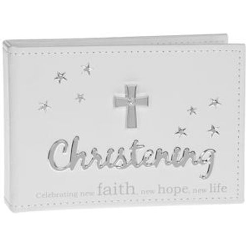 "Christening Photo Album Holds 24 6"" x 4"" Prints"