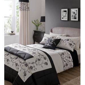 Textured Border (Black) Single Bed Set