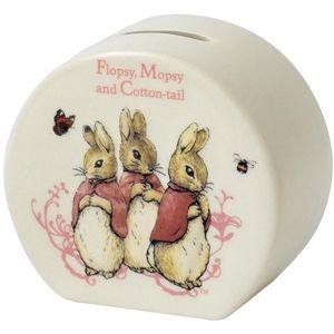 Beatrix Potter Peter Rabbit Ceramic Money Bank - Flopsy, Mopsy and Cotton-Tail