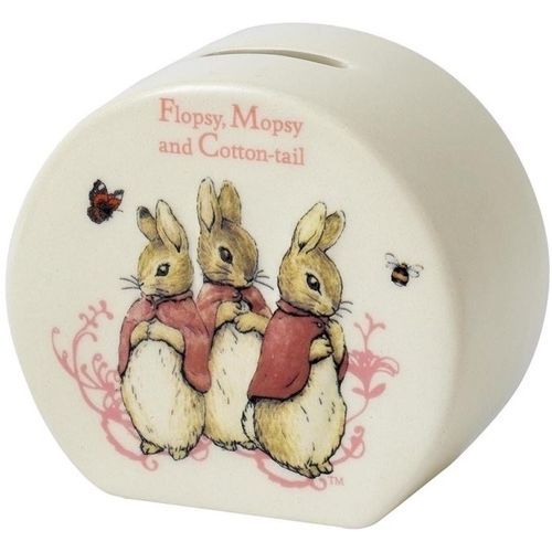 Beatrix Potter Peter Rabbit Ceramic Money Bank - Flopsy, Mopsy and Cotton-Tail A26696