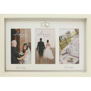 "Amore Wedding Triple Photo Frame 4x6"" - Friends & Family"