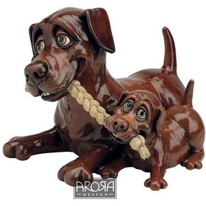 Pets with Personality Chocolate Labrador Mother & Pup