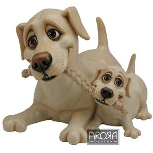 Pets with Personality Yellow Labrador Mother & Pup