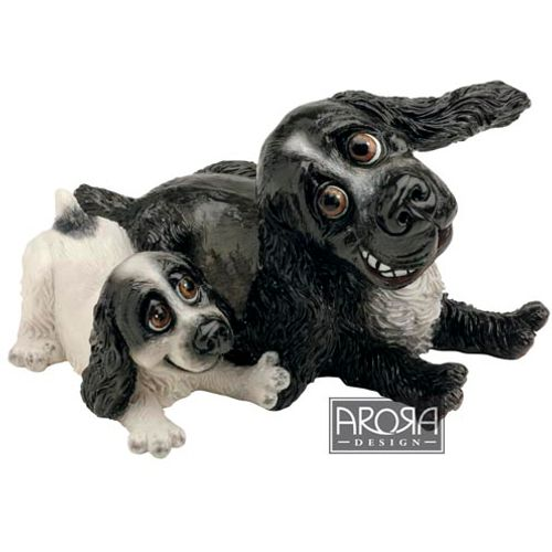 Pets with Personality Cocker Spaniel Mother & Pup Figurine