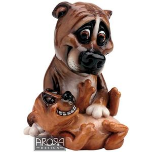 Pets with Personality Staffy Mother & Pup Figurine