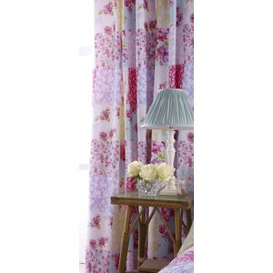 """Catherine Lansfield Gypsy Patchwork Curtains 66x72"""""""