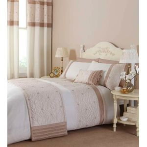 Catherine Lansfield Lois Natural Duvet Quilt Cover Set - Single Bed