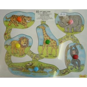 Lift & Look - Jungle Animals Wooden Toy Puzzle