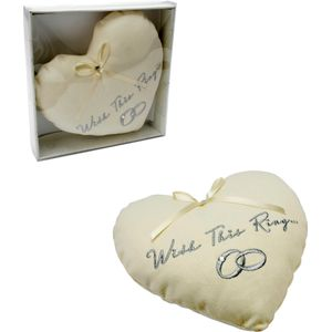 Amore Heart Shaped Wedding Ring Cushion