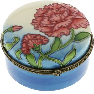Old Tupton Ware Carnation Collection Box - Round Trinket Box