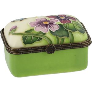 Old Tupton Ware Primrose & Butterfly Trinket Box