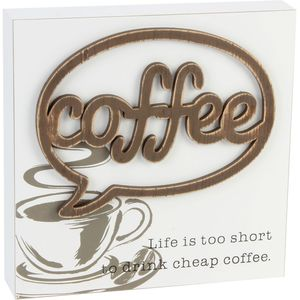 Juliana Home Living Wall Plaque - Coffee