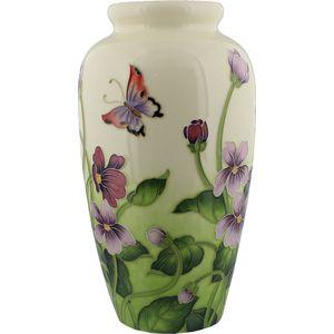 Old Tupton Ware Primrose & Butterfly Design Large Vase
