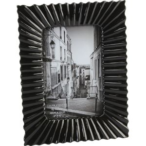 "Juliana Impressions Black Ribbed Photo Frame 4"" x 6"""