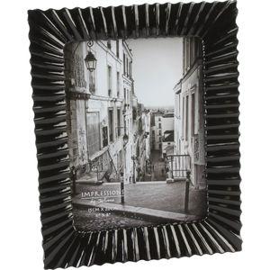 "Juliana Impressions Black Ribbed Photo Frame - 6x8"""
