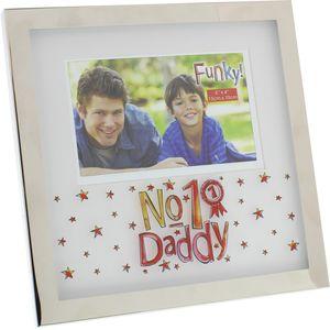 """Funky Photo Frame 6x4"""" - No 1 Daddy"""