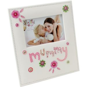 "Vintage Fabric Photo Frame 6"" x 4"" - Mummy"