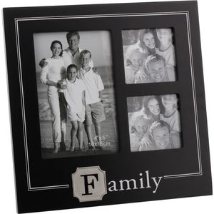 New View Initial Icon Collage Photo Frame - Family