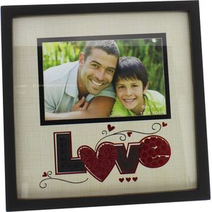 "New View Foil Pop Photo Frame 6"" x 4"" - Love"