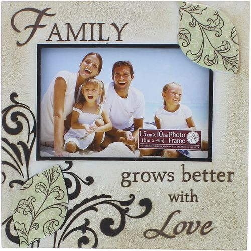 Family grows better with Love Stone ffect photo frame