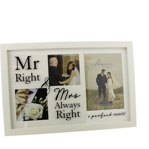 Amore Multi Photo Frame Mr Right & Mrs Always Right