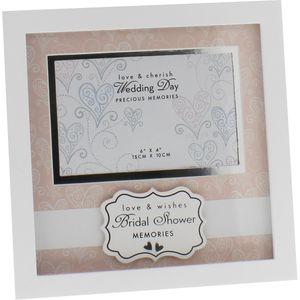 "Love & Cherish Wedding Frame 6"" x 4"" Bridal Shower"
