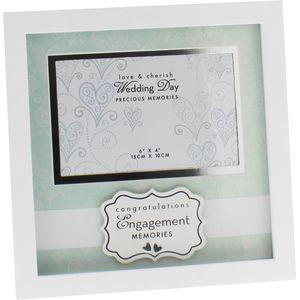 "Love & Cherish Engagement Photo Frame 6"" x 4"""