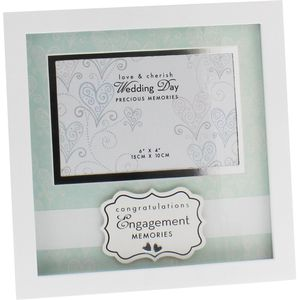"Love & Cherish Photo Frame 6"" x 4"" - Engagement"