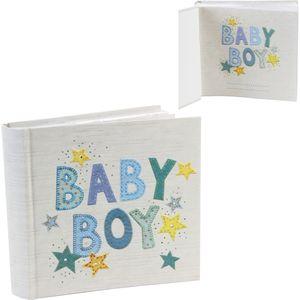 "Gorgeous Photo Album Holds 80 6"" x 4"" Prints - Baby Boy"