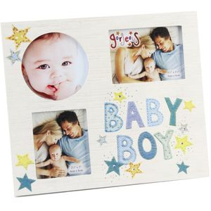 Baby Boy 3 Aperture Photo Frame
