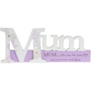 Mum Word Plaque with Verse