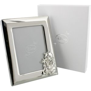 Disney Winnie the Pooh Silver plated Photo Frame 3.5x5""