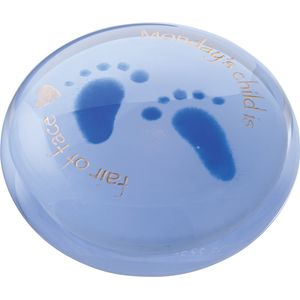 Days of the Week Mondays Child (Blue) Paperweight
