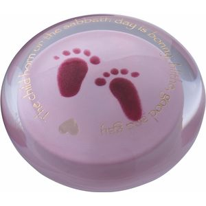 Days of the Week Wednesdays Child (Pink) Paperweight