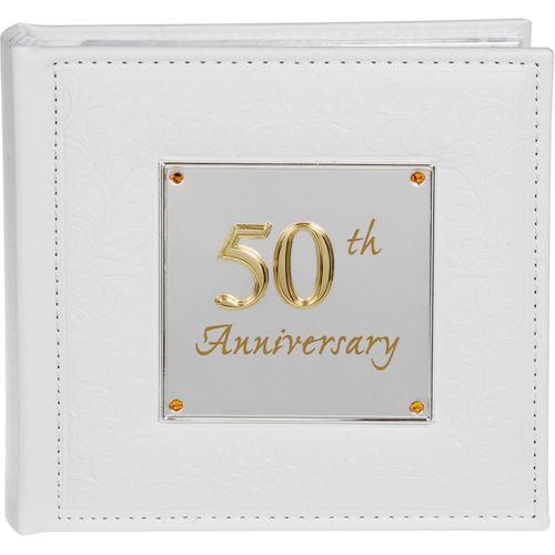 "Deluxe Photo Album - 50th Anniversary Holds 80 4"" x 6"" Portrait Photos"