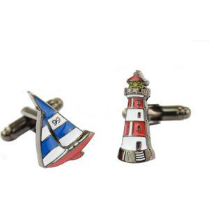 Sailing Boat & Lighthouse Cufflinks