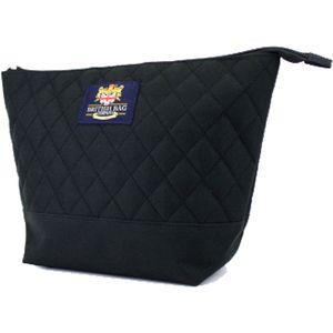 British Bag Company Regent Quilted Wash Bag - Black