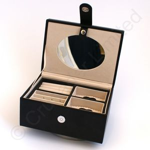 Mele & Co Bonded Leather Jewellery Box - Diana Black