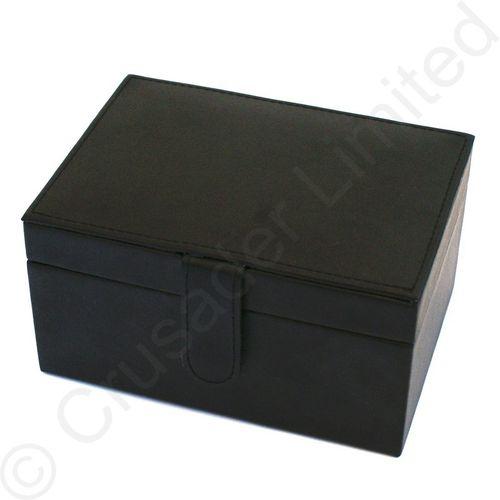 Mele & Co Bonded Leather Jewellery Box - Diana Black