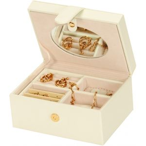 Mele & Co Bonded Leather Jewellery Box - Diana Ivory