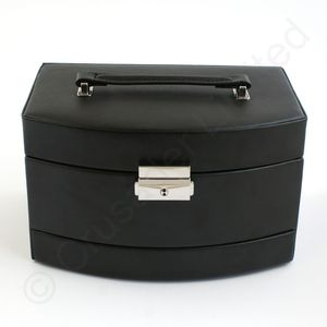 Mele & Co Bonded Leather Jewellery Case - Consort Black