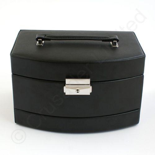 Mele & Co Bonded Leather Jewellery Case - Consort Black