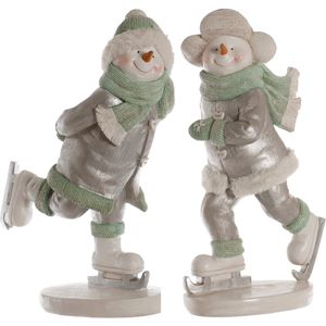 Skating Snow Boy & Girl Figurines