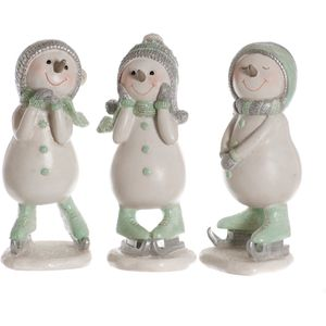 Set of 3 Ice Skating Snow Men Friends Figurines Set