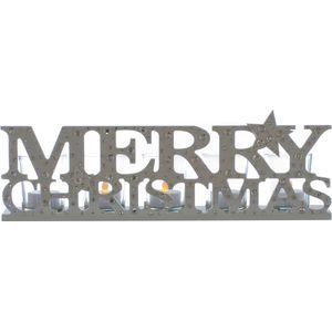 Christmas Tea Light Candle Holder - Merry Christmas Word Block