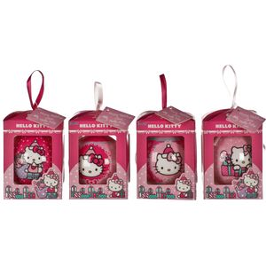 Set of 4 Hello Kitty Decoupage Baubles
