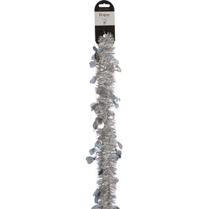 Silver Hearts Tinsel 2m