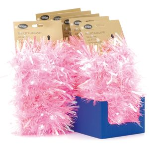 Neon Pink Light Up Tinsel 2m