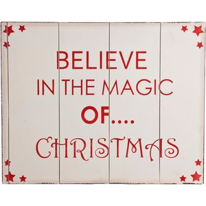 Christmas Decoration - Wooden Wall Art Believe in the Magic of Christmas