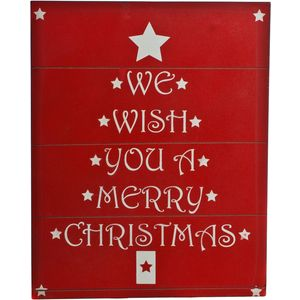 Christmas Decoration - Wooden Wall Art We Wish You a Merry Christmas